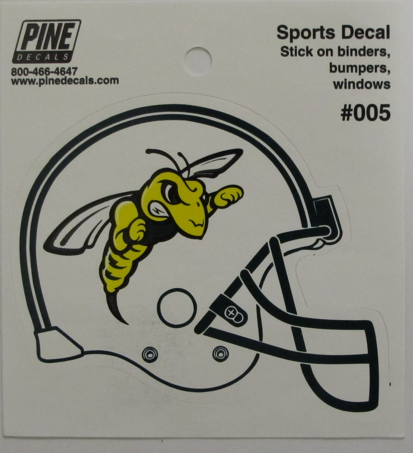 Decal Football Helmet W/Bee