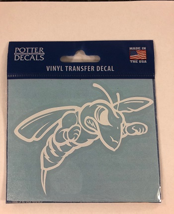 Small White Bee Decal