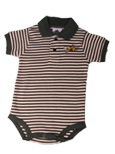 Infant Striped Polo Body Suit