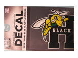 Decal Cdi Mascot W/ H Black