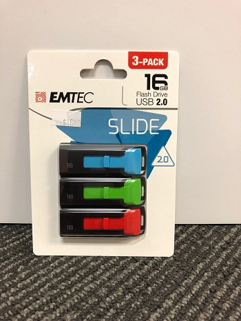Flash Drive 16Gb Slide 3 Pack