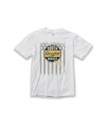 Ringspun Tee White Spearfish Sd