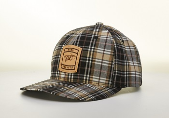 Hat Plaid W/ Leather Patch Bhsu