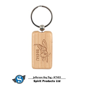Jefferson Wood Key Chain
