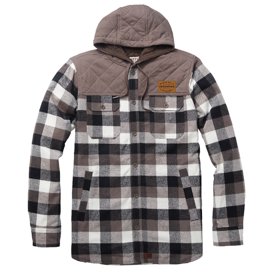 Flannel Hooded Jacket W/Patch