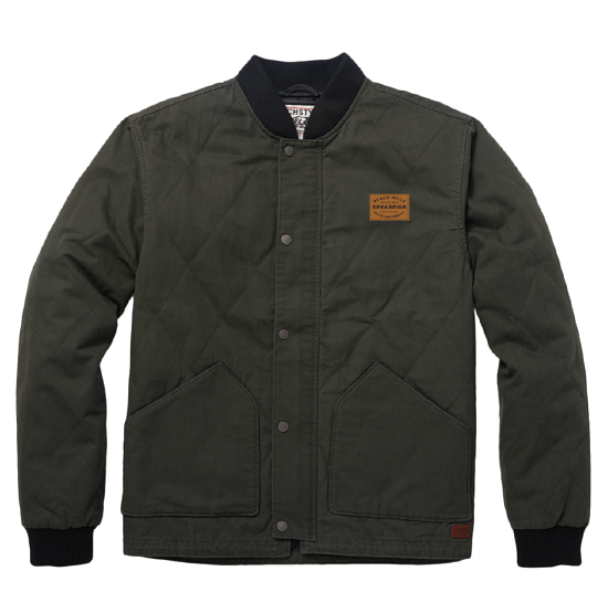 Jacket Military Green Quilted W/Patch